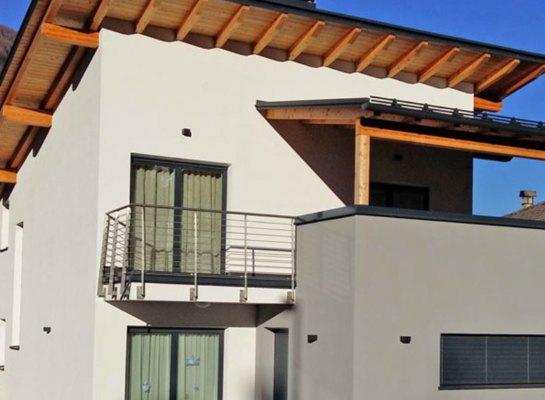 Casa privata monofamiliare val di sole in legno